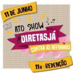 Domingo, na Redenção, artistas gaúchos organizam ato show por Diretas Já