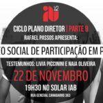 Quarta no IAB – Ciclo Plano Diretor – CMDUA: Espaço Social de Participação em Porto Alegre